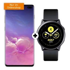 Samsung Galaxy S10 Plus + Samsung Galaxy Watch Active (Schwarz) Thumbnail