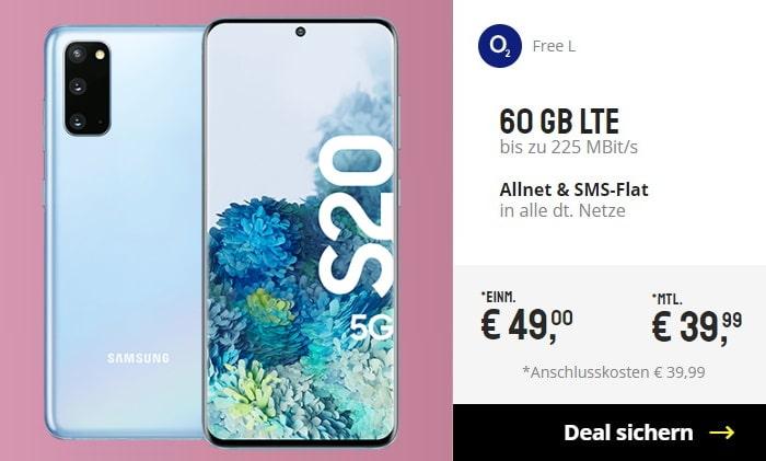 Samsung Galaxy S20 + o2 Free L bei Sparhandy
