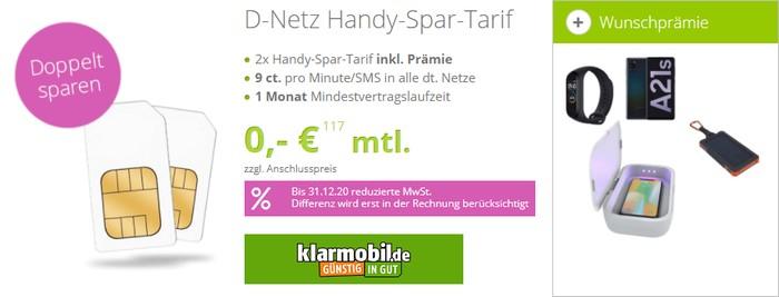 Handy-Spar-Tarif bei gethandy August 2020