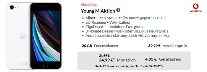 iPhone SE 2020 mit Vodafone Young M bei Preisboerse24
