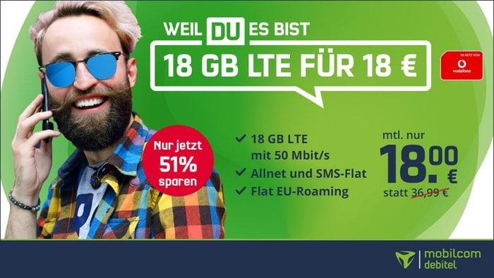 mobilcom-debitel green LTE (Vodafone-Netz) bei mobilcom-debitel