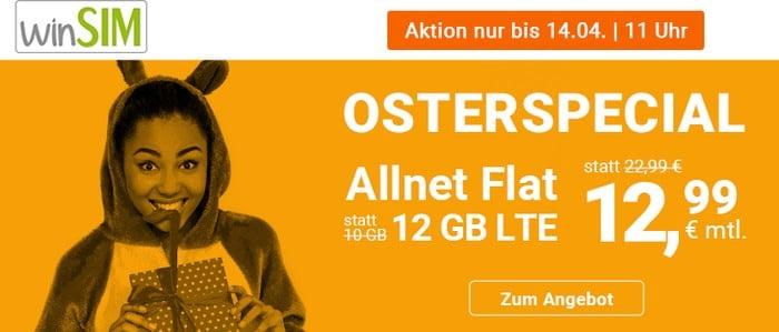 winSIM LTE All 12 GB LTE Osteraktion 2020