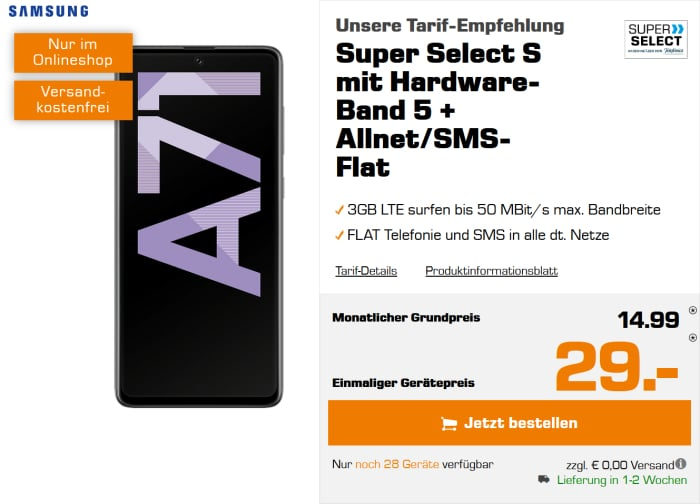 Galaxy A71 mit Saturn Super Select S
