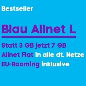 Blau L 7 statt 3 GB LTE