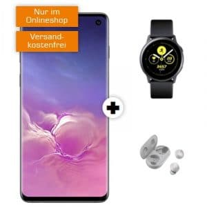 Galaxy S10 Dual-SIM und Galaxy Watch Active und Galaxy Buds