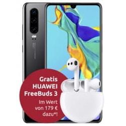 Huawei P30 mit Freebuds 3 bei LogiTel