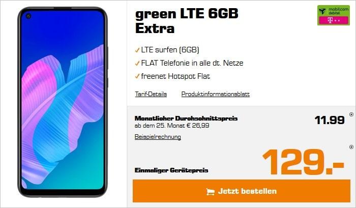 Huawei P40 lite E mit green LTE 6 GB im Telekom-Netz bei Saturn