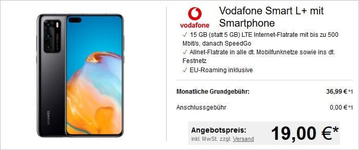 Huawei P40 mit Vodafone Smart L Plus bei LogiTel