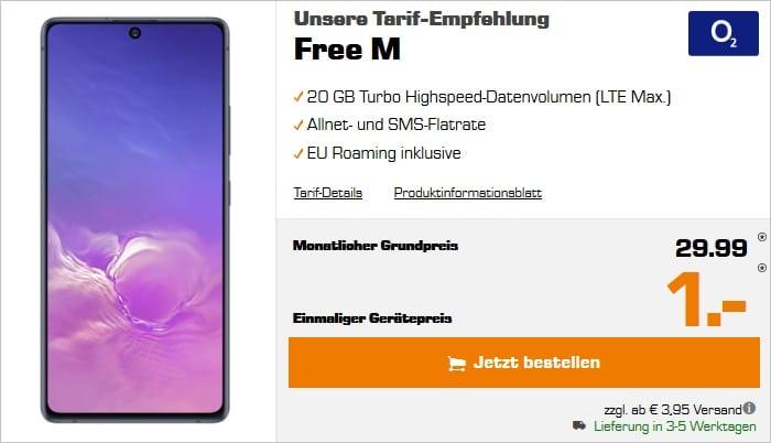 Samsung Galaxy S10 Lite mit o2 Free M bei Saturn
