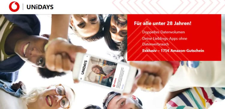 Unidays Vodafone Young M Aktion