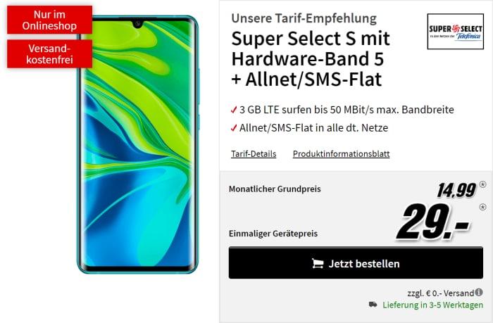 Xiaomi Mi Note 10 Pro mit SuperSelect bei MediaMarkt