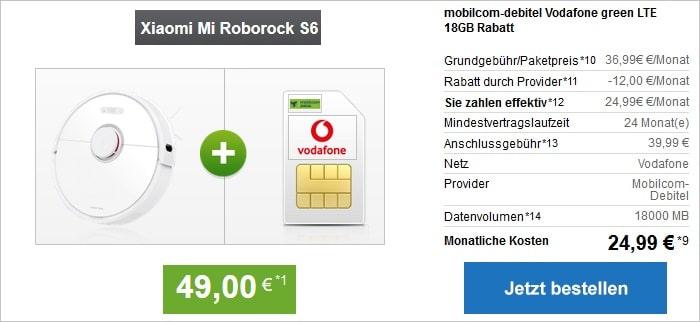 Xiaomi Mi Roborock mit md green LTE 18 GB im Vodafone-Netz bei modeo