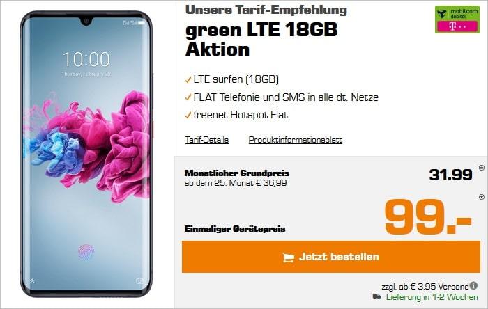 ZTE Axon 11 5G mit green LTE 18 GB im Telekom-Netz bei Saturn