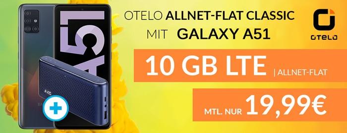 Samsung Galaxy A51 mit otelo Allnet-fla Classic, 10 GB LTE im Vodafone-netz