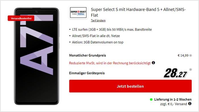 Samsung Galaxy A71 + Super Select S bei MediaMarkt