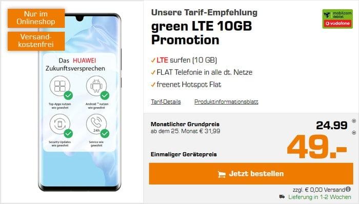 Huawei P30 Pro + mobilcom-debitel green LTE (Vodafone-Netz) bei Saturn