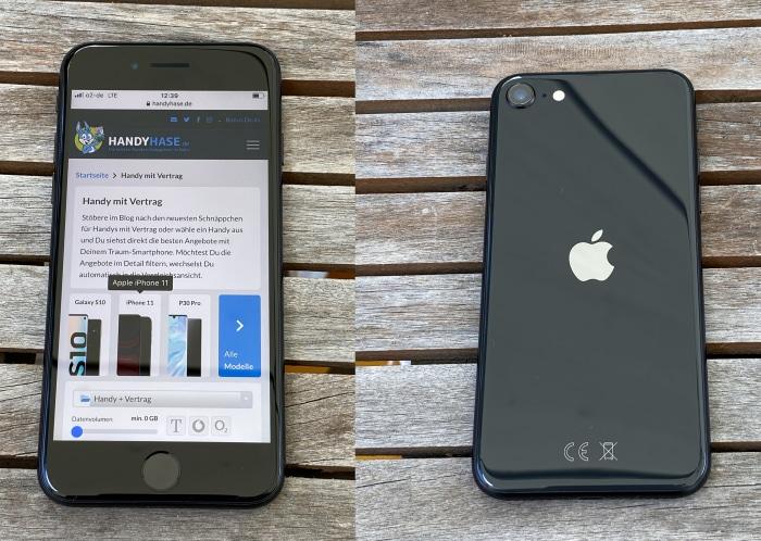iPhone SE (2020) Test Vorderseite und Rückseite