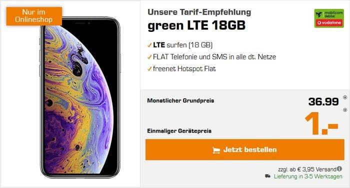 iPhone Xs + mobilcom-debitel green LTE (Vodafone-Netz) bei Saturn