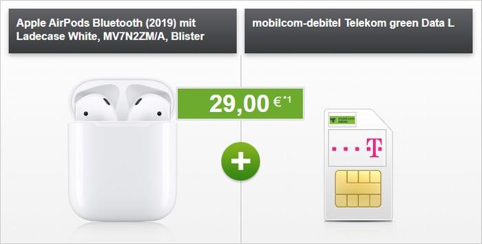 mobilcom-debitel green Data L + Apple AirPods (2019) im Telekom-Netz bei modeo