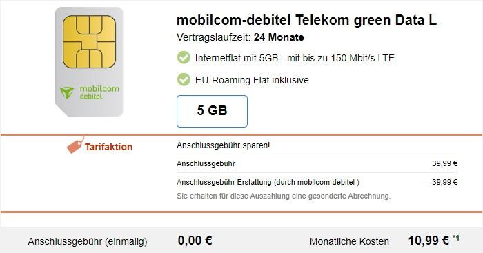 mobilcom-debitel green Data L im Telekom-Netz bei Modeo