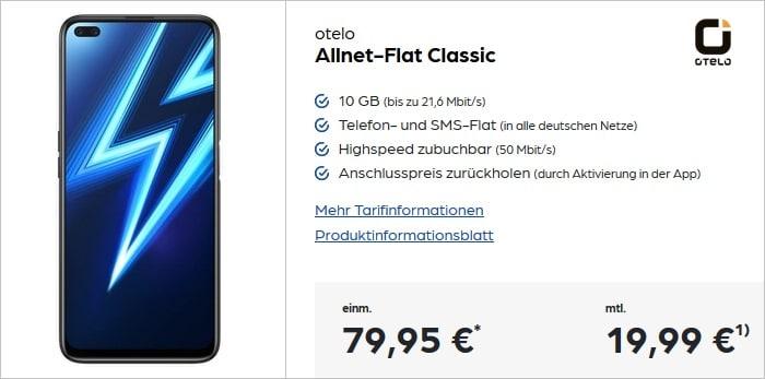 realme 6 Pro mit otelo Allnet-Flat Classic bei Preisboerse24