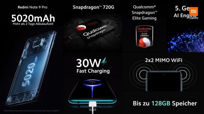 Xiaomi Redmi Note 9 Pro mit Vertrag im Vergleich