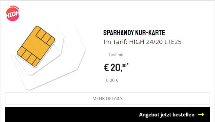 Sparhandy High 20 GB