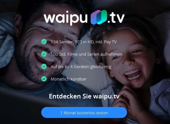 waipu tv 1 Monat gratis