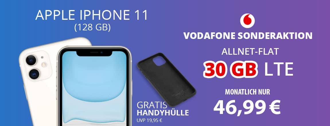Apple iPhone 11 mit gratis Handyhülle zum Vodafone Smart XL bei FLYmobile