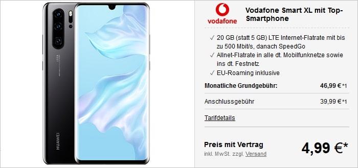 Huawei P30 Pro mit Vodafone Smart XL bei LogiTel