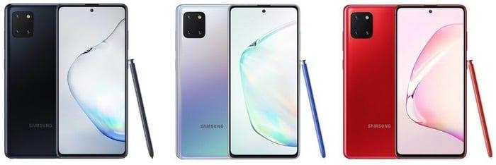 Samsung Galaxy Note 10 Lite Farben