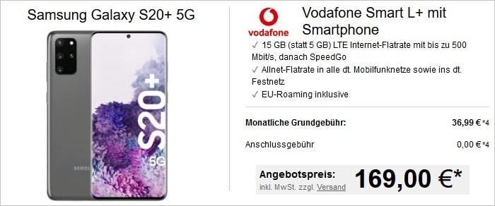 Samsung Galaxy S20 Plus 5G mit Vodafone Smart L Plus bei LogiTel