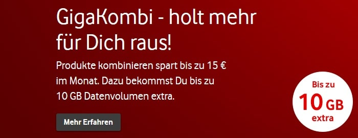 Vodafone GigaKombi Infografik