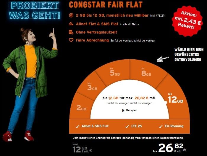 congstar Fair Flat Aktion 2020