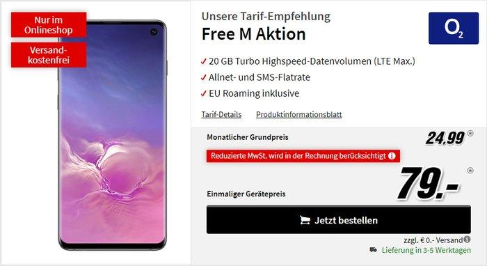Samsung Galaxy S10 mit o2 Free M bei MediaMarkt