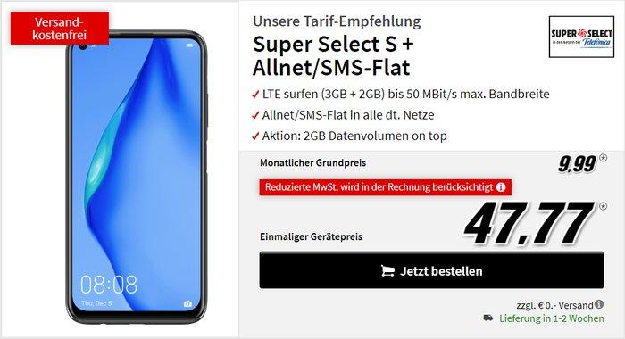 Huawei P40 Lite + Super Select S bei MediaMarkt