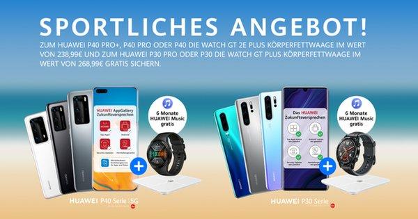 "Huawei Aktion zur Huawei P30- & P40-Serie ""Sportliches Angebot"" Thumbnail"