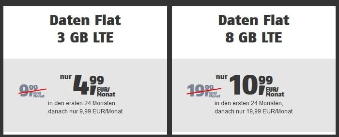 klarmobil Daten Flat im Vodafone-Netz