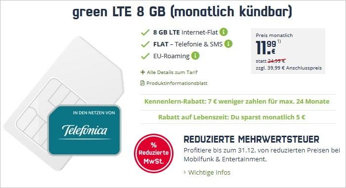 mobilcom-debitel green LTE (Telefónica-Netz) bei mobilcom-debitel