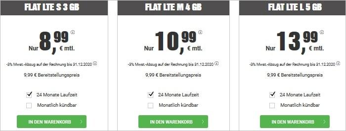 BILDconnect Tarife mit Allnet Flat und LTE