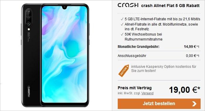 Huawei P30 Lite mit crash Allnet Flat 5 GB LTE im Vodafone-Netz bei LogiTel