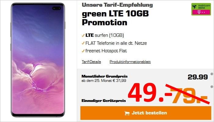 Galaxy S10 Plus green LTE Telekom