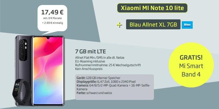 Xiaomi Mi Note 10 Lite mit Blau-Tarif