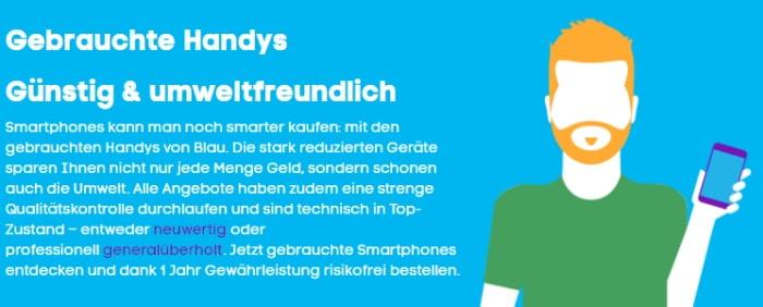 Blau.de refurbushed gebrauchte handys smartphones
