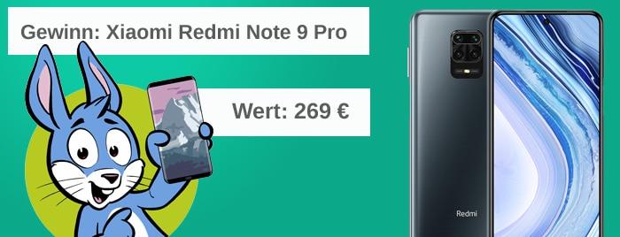 Handyhase-Gewinnspiel im Juli: Jetzt mitmachen und ein Xiaomi Redmi Note 9 Pro im Wert von 269 € gewinnen!