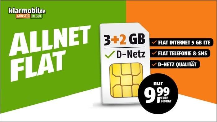 klarmobil Allnet Flat LTE Tarife 3+2 Aktion