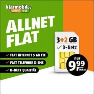 klarmobil Allnet Flat LTE Tarife 3+2 Aktion Teaserbild Thumb