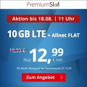 PremiumSIM 10 GB Aktion