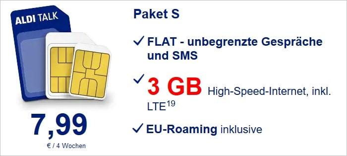 ALDI TALK Prepaid Paket S