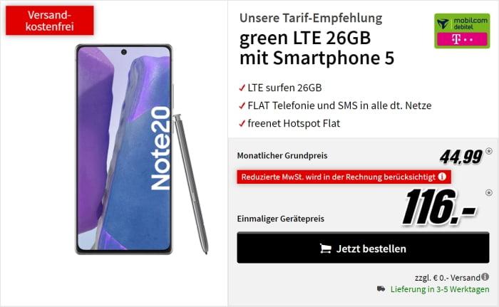 Galaxy Note 20 green lte Telekom bei Mediamarkt